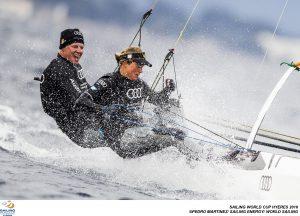 Jan Hauke Erichsen und Lea Spitzmann (Foto: Pedro Martinez/Sailing Energy/World Sailing)
