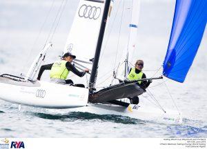 160611 pm 14320 swc weymouth 2. Platz: Paul Kohlhoff und Carolina Werner, Kieler Yacht-Club, Nacra17-Klasse © Sailing Energy/World Sailing
