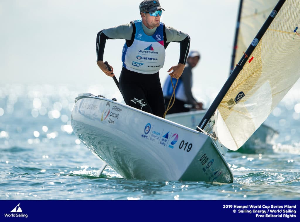 Mit Platz 11 nur ganz knapp am Medal Race vorbei: Finn-Steuermann Max Kohlhoff. Foto: Sailing Energy ©PEDRO MARTINEZ/SAILING ENERGY/WORLD SAILING 31 January, 2019.