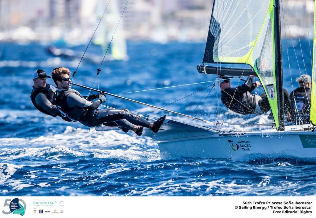 Justus Schmidt und Max Boehme lieferten mit Platz 5 das beste deutsche Ergebnis bei der Trofeo Princesa Sofia ab. Foto: Sailing Energy/Trofeo Princesa Sofia