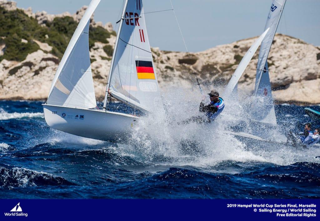 Bestes deutsches Team wurden vor Marseille Simon Diesch und Philipp Autenrieth auf Platz sechs. Foto: Sailing Energy