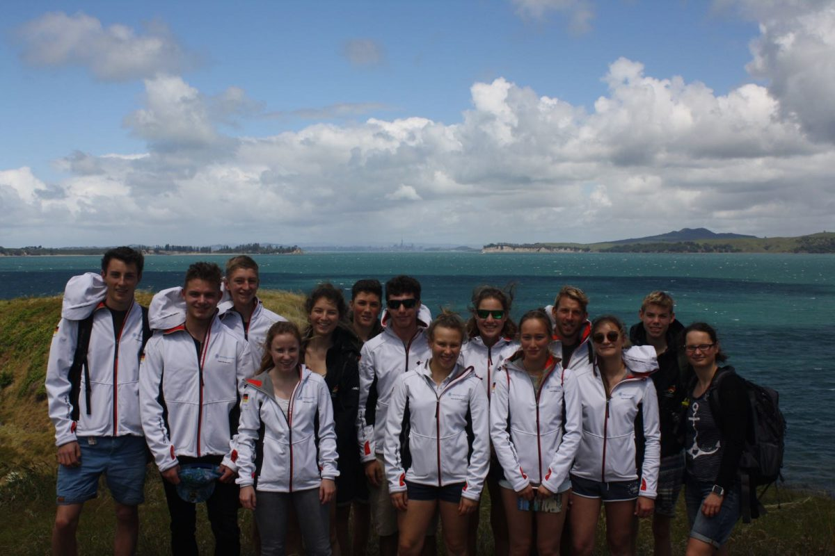 Unser DSV-Team für die World Sailing Youth Worlds in Auckland.