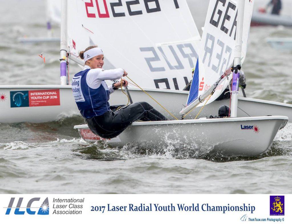 Hannah Anderssohn setzte sich bei der Laser Radial-JWM gegen starke internationale Konkurrenz durch. Foto: Tom Touw