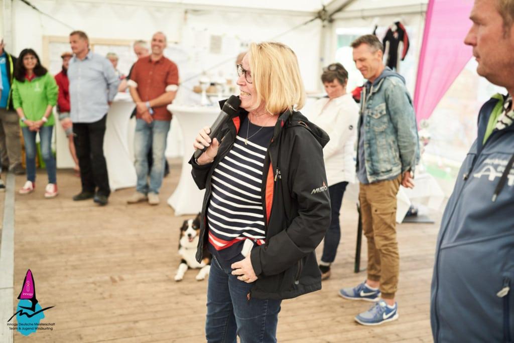 DSV-Präsidentin Mona Küppers bei der Siegerehrung