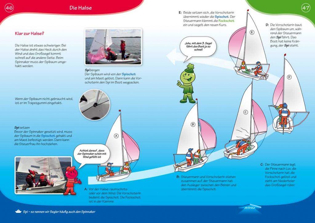 """Das Arbeitsheft """"Segeln für Kids"""" zeigt mit vielen Bildern und Illustrationen die Grundlagen des Segelns. Bild: DSV-Verlag"""