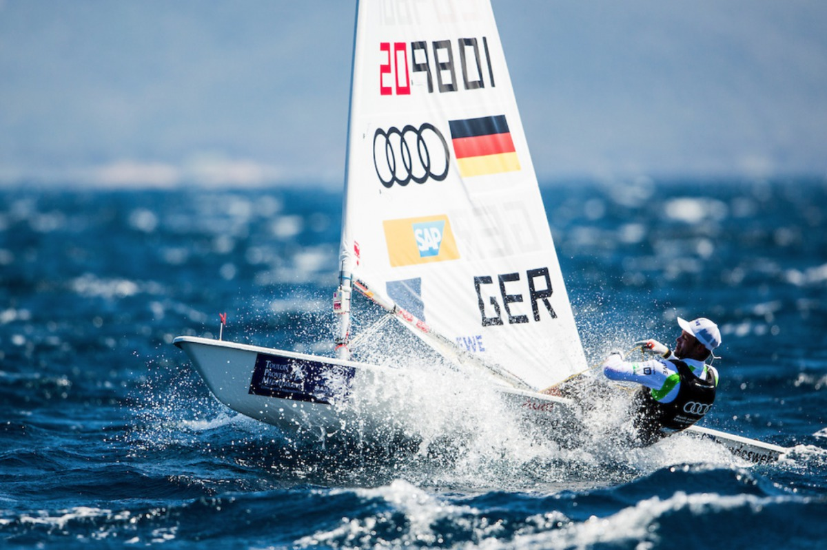 Geht als Gesamtzweiter ins Medal Race: Philipp Buhl Foto: Pedro Martinez/Sailing Energy/World Sailing