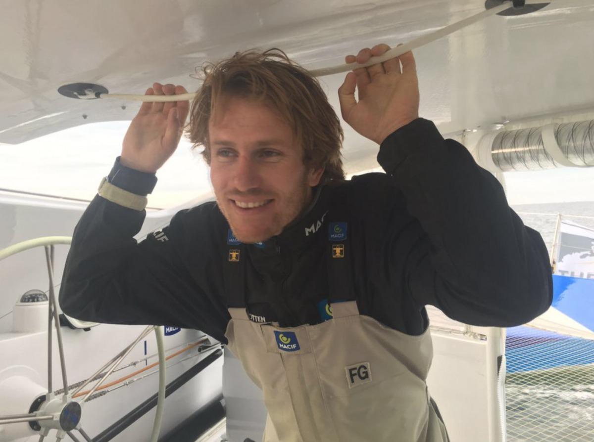 Müde, aber glücklich: François Gabart nach dem Zieleinlauf in New York