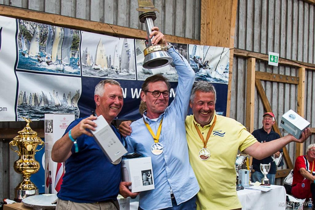 Thomas Schmid: Freude über den zweiten Finn-Titel nach 33 Jahren - diesmal bei den Grand Grand Masters. Foto: Robert Deaves