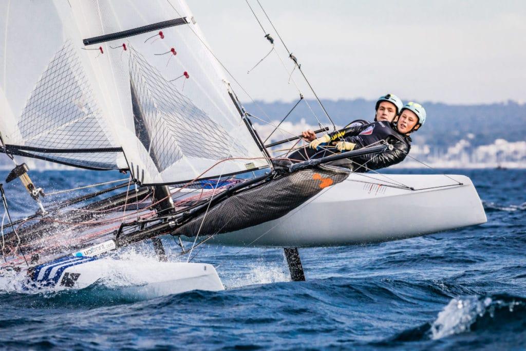 Paul Kohlhoff und Alica Stuhlemmer sicherten sich vor Weymouth das Ticket zum olympischen Testevent in Enoshima. Foto: DSV/Lars Wehrmann