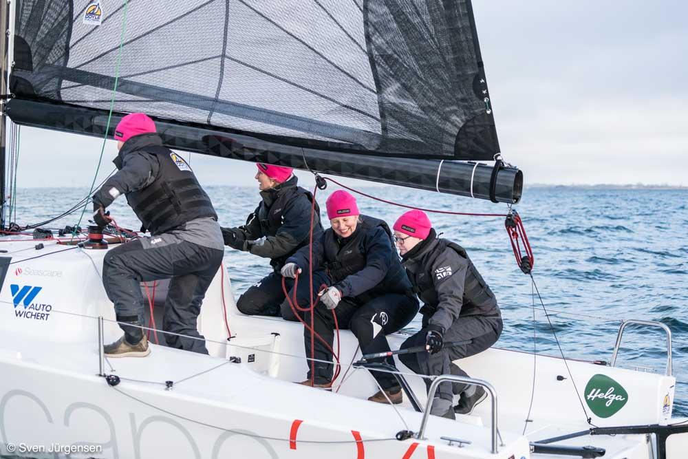 Helga Cup: Die Crew der Blond trainiert vor Heiligenhafen