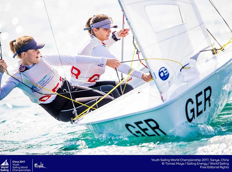 DSV-Jugend-Crew für den Helga-Cup: Inga-Marie Hofmann/Henrike Leitl
