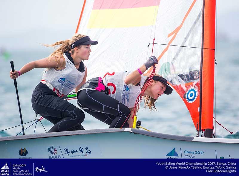 DSV-Jugend-Crew für den Helga-Cup: Maru Scheel/Freya Feilcke