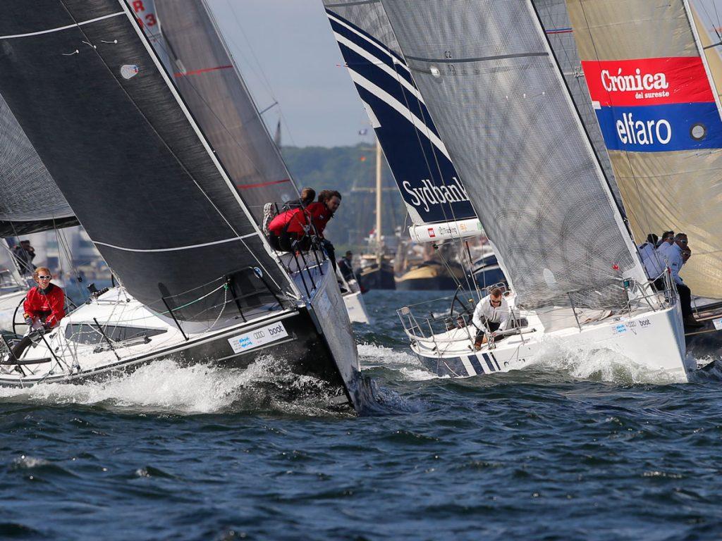 Die Kieler Woche 2018 dient vielen ORC-Teams als Vorbereitung auf die WM in Scheveningen. Foto: okpress