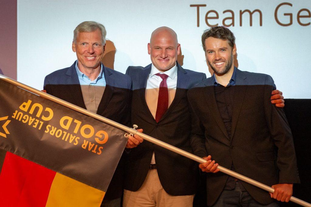 Jochen Schümann, Fritjof Kleen und Philipp Buhl starten für Deutschland beim Star Sailors League Gold Cup. Foto: Star Sailors League