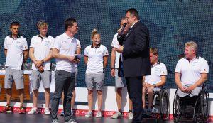 Verabschiedung der olympischen und paralympischen Segler (Foto: DSV/Hans-Herbert Hoffmann)